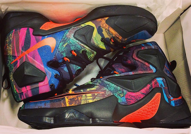 Preview Of Nike Lebron 13 Rainbow Colorway Agoodoutfit