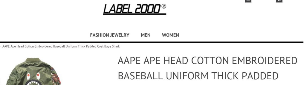 Where to Buy Fake Bape - Label 2000