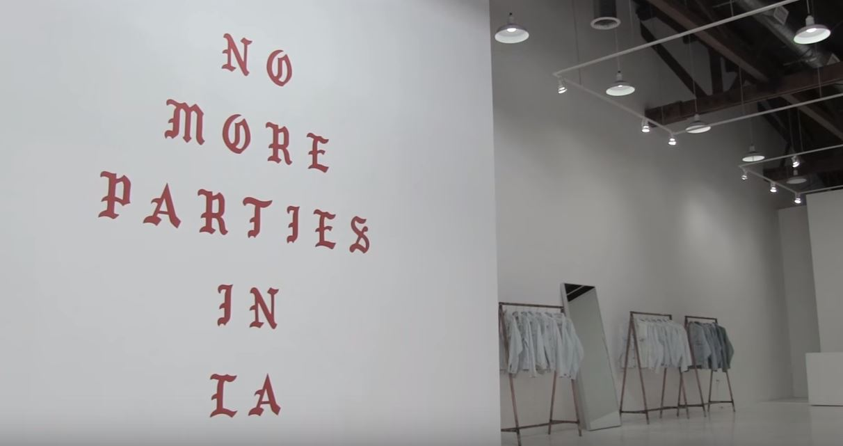 Kanye West's Life of Pablo L.A. Merch Store