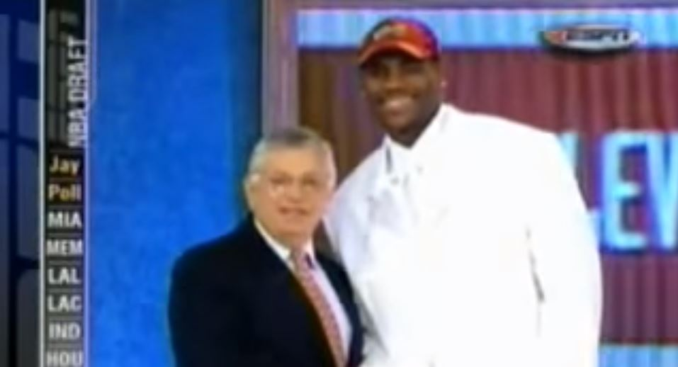 Flashbackfriday Lebron James Wears All White Suit To