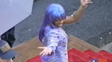 Lil Kim Purple Outfit