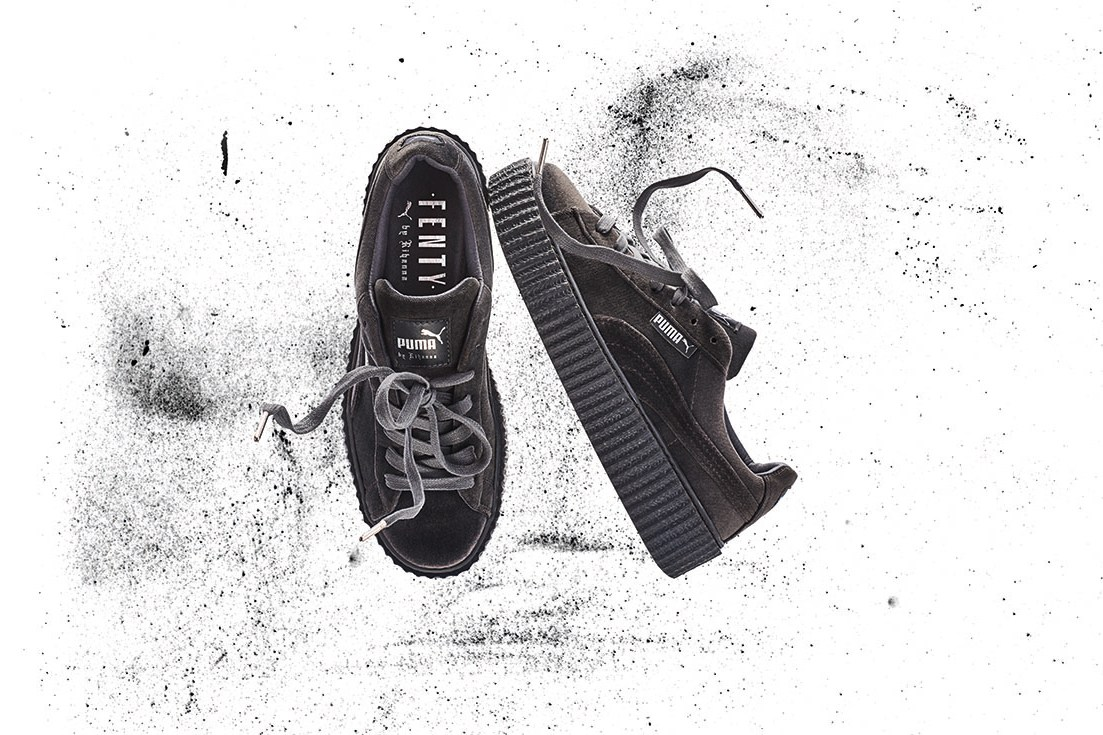 new rihanna x puma velvet fenty creepers unveiled. Black Bedroom Furniture Sets. Home Design Ideas