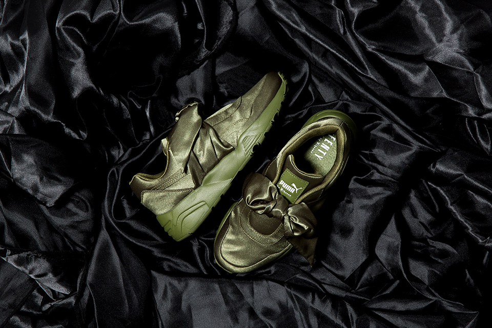 Rihanna Fenty Puma Bow Shoes (Olive Green)