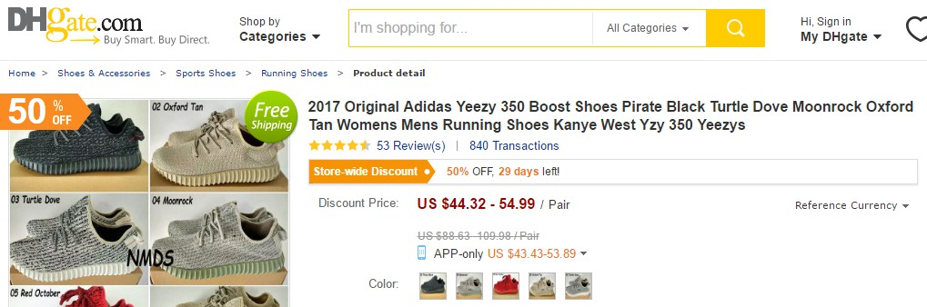 Where to Buy Fake Yeezys - DHgate