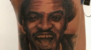 Andre 3000 Thigh Tattoo