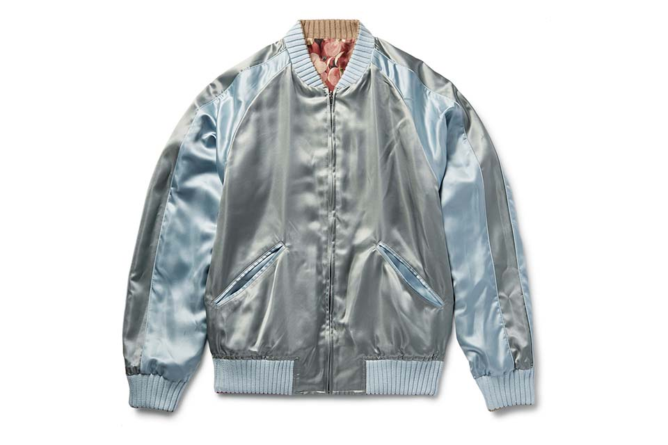 Gucci Creates A Reversible Silk Twill Floral Bomber Jacket
