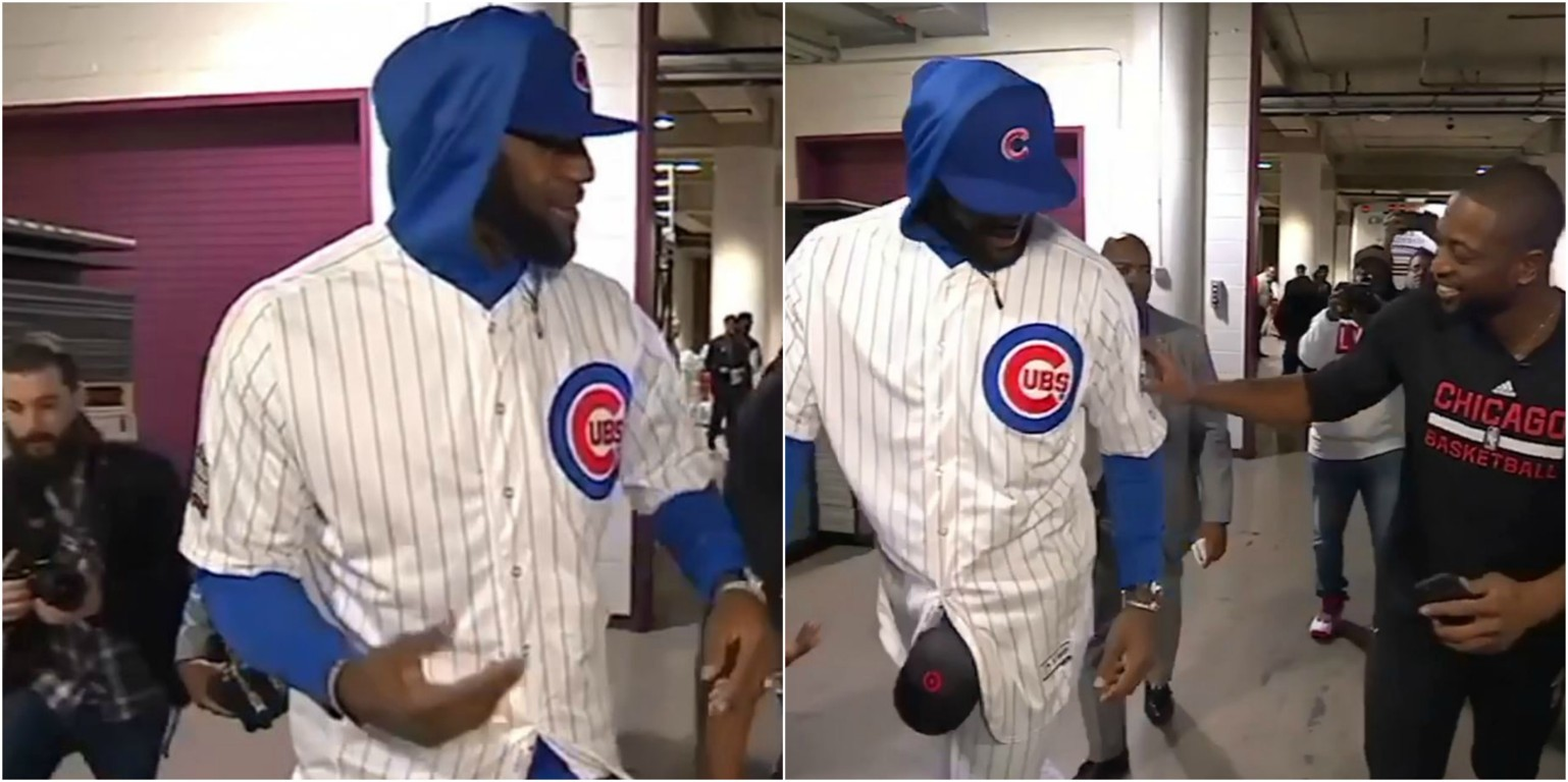 38c8086368a LeBron James Loses World Series Bet with Dwayne Wade and Puts on a Chicago  Cubs Uniform! – aGOODoutfit