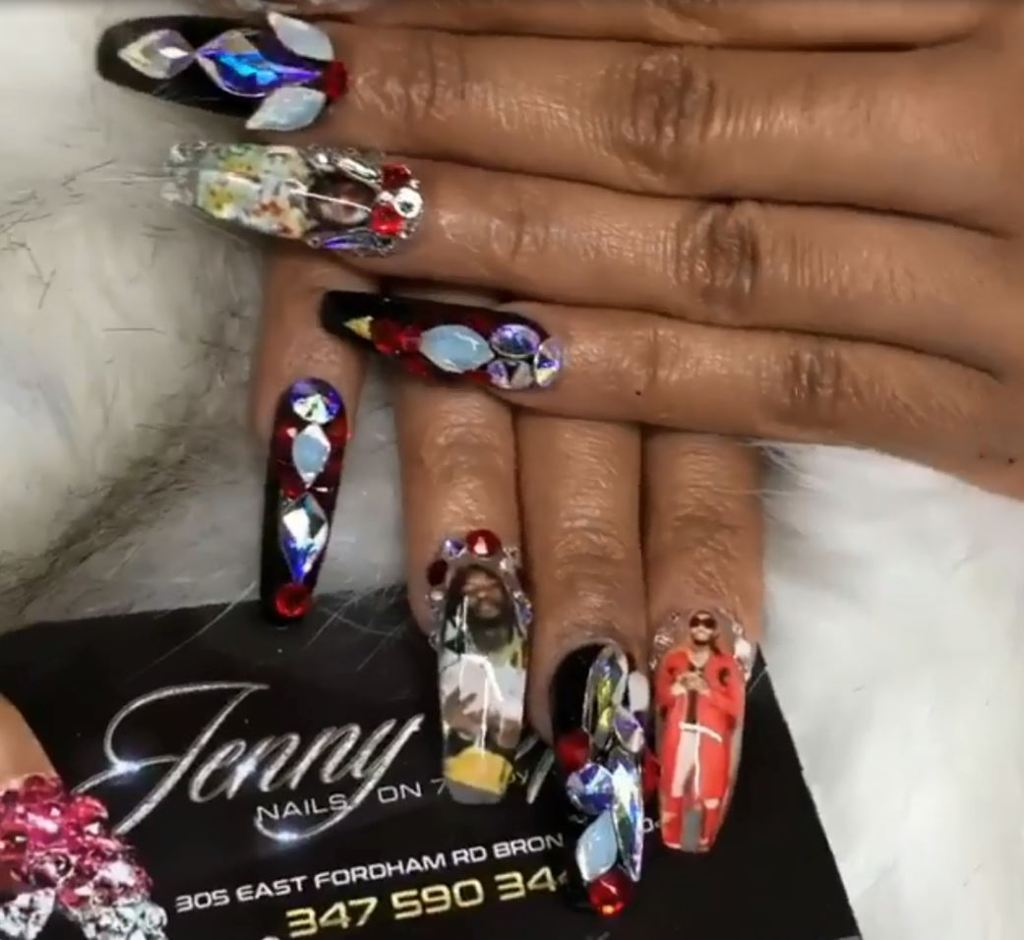 Cardi B Nails Cardi B Gets Custom Nails Of Boyfriend