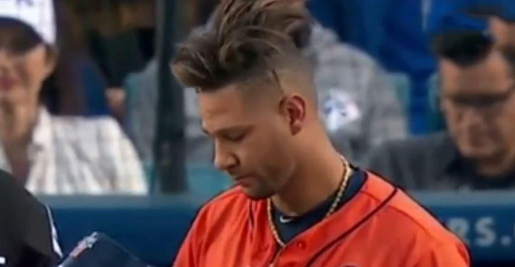 Yuli Gurriel\u0027s Strange Hair During Astros Dodgers World