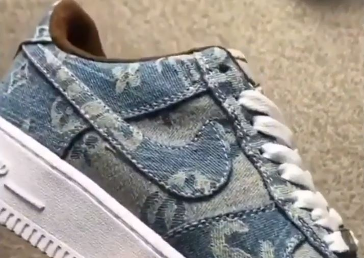 9eaa98e1c897 Custom Nike Air Force 1 Supreme Louis Vuitton Denim – aGOODoutfit